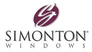 Simonton logo for window